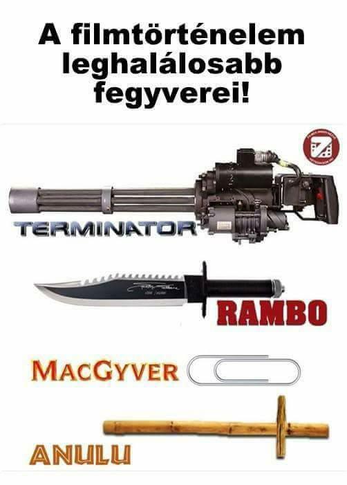Leghalálosabb fegyverek a mozitörténetben!